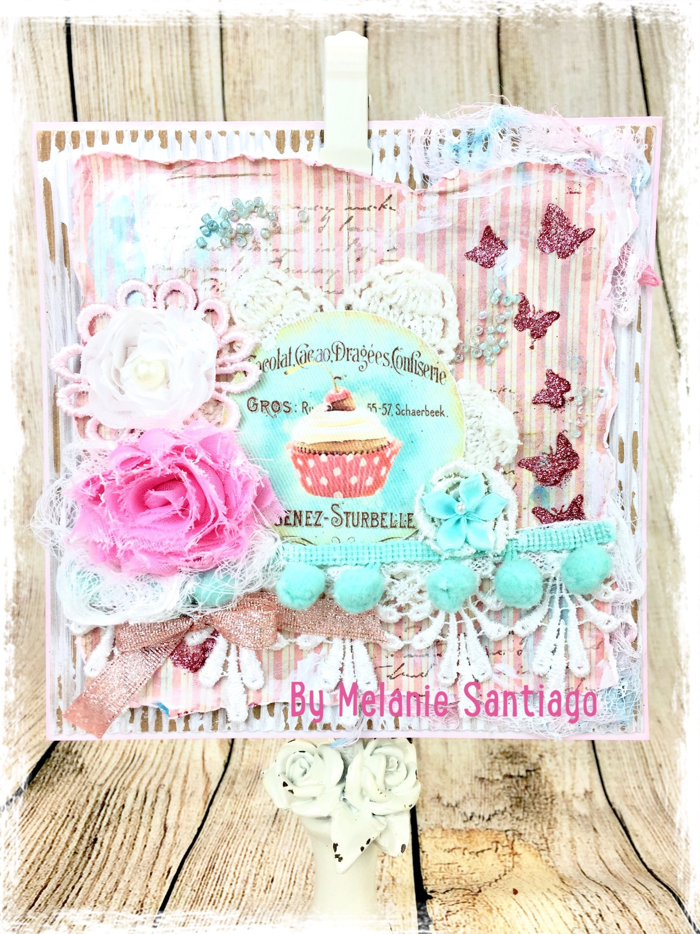 Easy Tutorial Shabby Chic Card