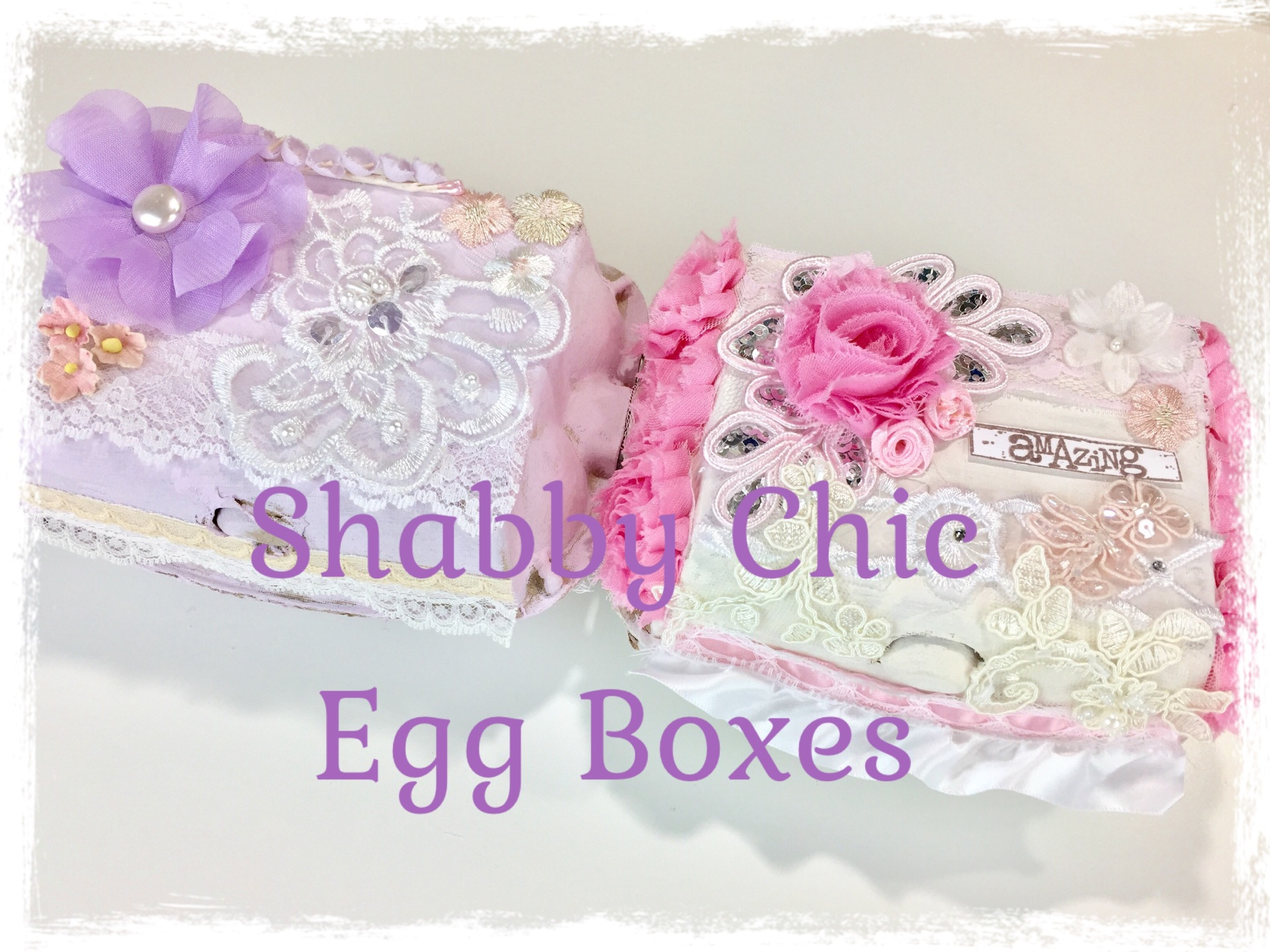 Shabby Chic Egg Boxes