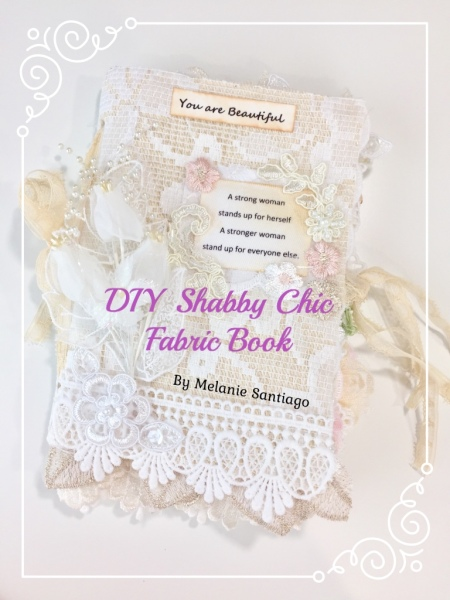 DIY Shabby Chic Fabric Book Part 1