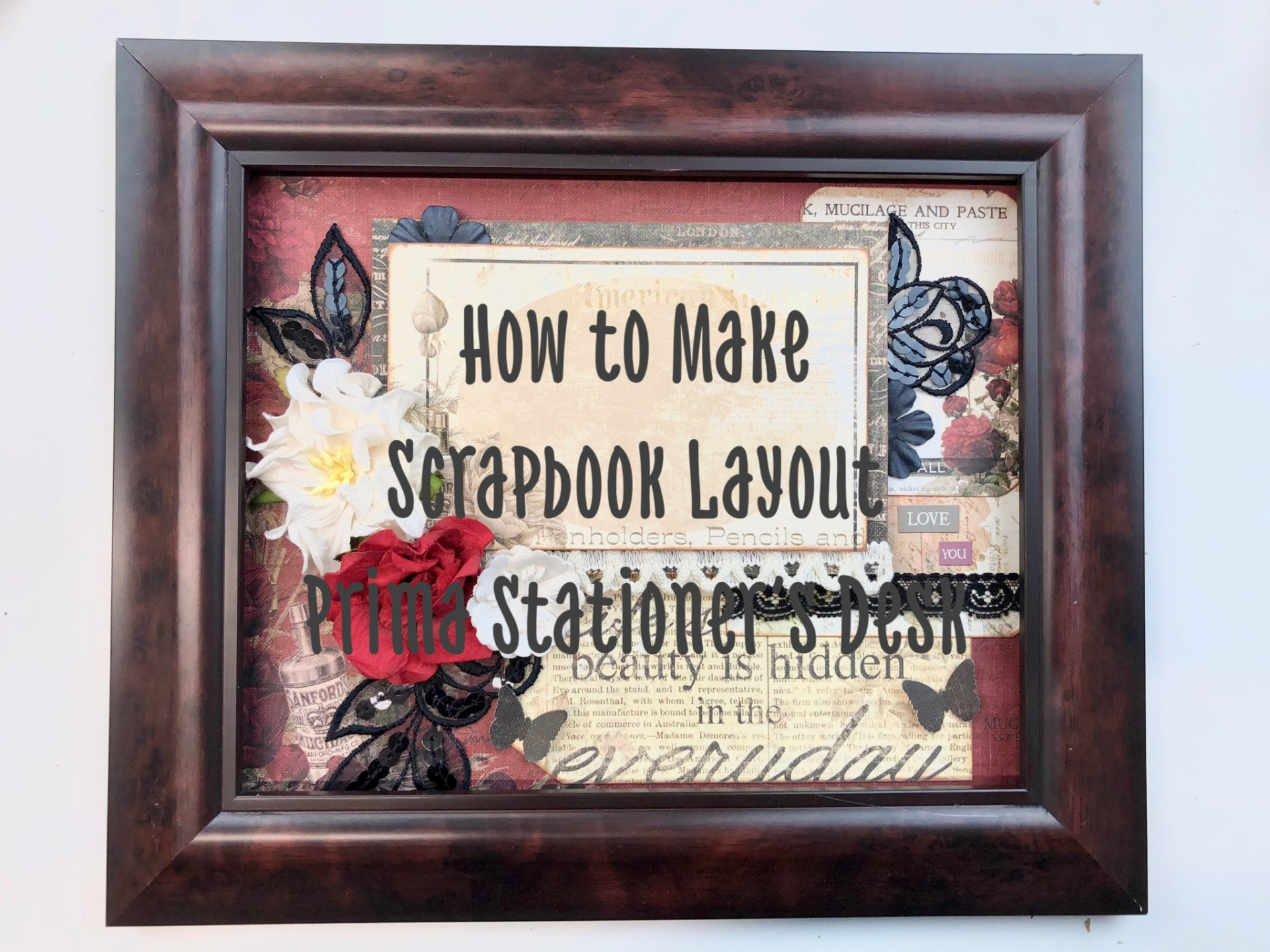 Blog Hop Winner Announcement and Scrapbook Layout Tutorial