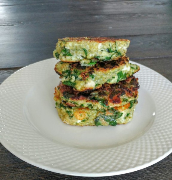 Spinach, Feta & Quinoa Patties