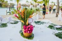 tropicalevent, tropicalwedding, tropicalcenterpiece, coconutcenterpiece, fiji wedding, wananavu wedding