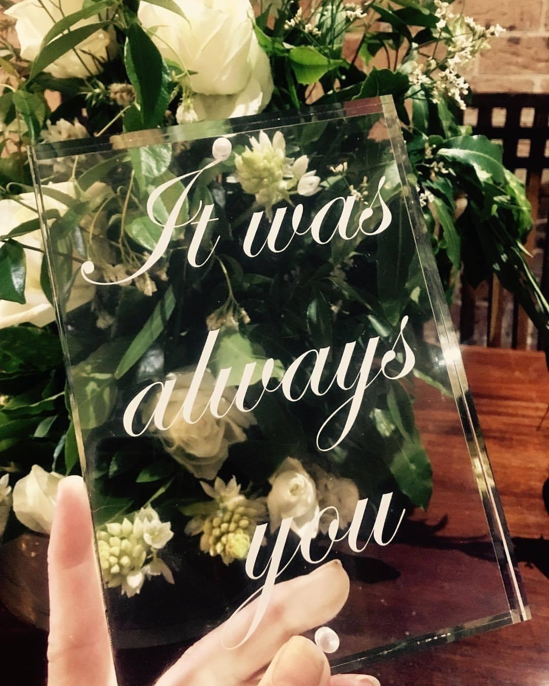 perspexsign, wedding sign, florist; sydneyflorist; sydneywedding; centralcoastwedding