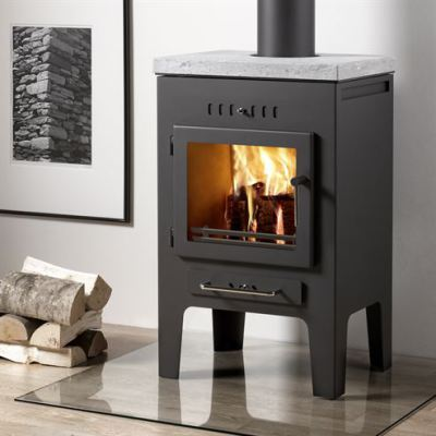 Uniq 5a 100mm Soapstone 4.7Kw Wood Burner