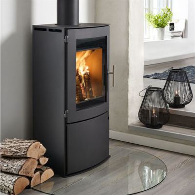 Westfire Uniq 18 Log door 5Kw Wood Burner