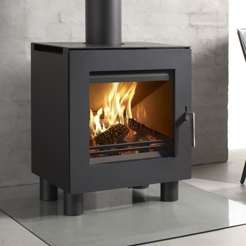 Uniq 23 100mm Legs 6.1Kw Wood Burner