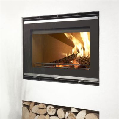 Uniq 32 Glass Front Frameless 5.9Kw Wood Burner