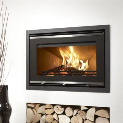 Uniq 32 Glass Front 800mm NF 5.9Kw Wood Burner