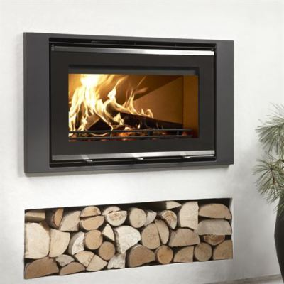 Uniq 32 Glass Front 1000mm WF 5.9Kw Wood Burner