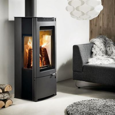 Westfire Uniq 33 Side Glass CC 6.1Kw Wood Burner