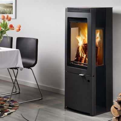 Westfire Uniq 34 Side Glass CC 6.1Kw wood Burner