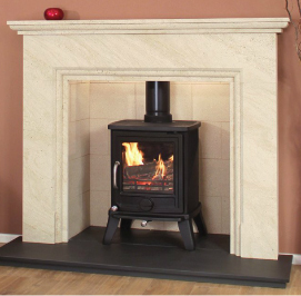 Newman Fireplaces Vista Panoramica 4.9Kw Multi Fuel