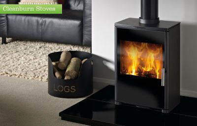 Capital Fireplaces Triton 450 Glass 4.5Kw Multi Fuel