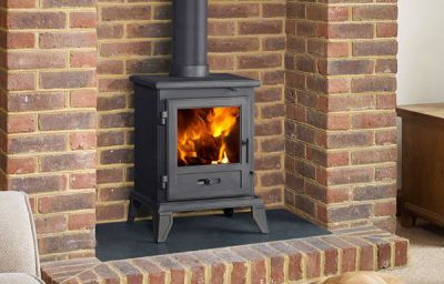 Capital Fireplaces Quadrical 405 4.9Kw Multi Fuel