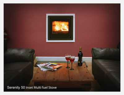 Serenity 50 Inset 6Kw Multi Fuel