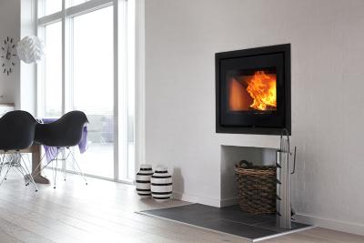 Heta Panorama Inset 6.5Kw Wood burner