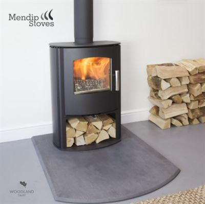 Mendip Churchill 5 SE Convection Log Store 4.6Kw Multi Fuel