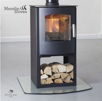 Mendip Churchill Double Sided Log Store 8Kw Multi Fuel