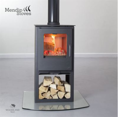 Mendip Loxton Double Sided Log Store 8Kw Multi Fuel