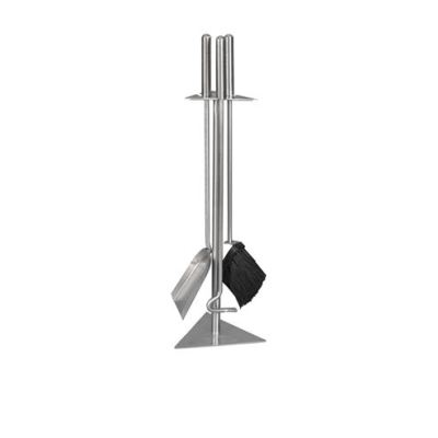 Badgeworth 3 Piece Stainless Steel Fireside Set from Mendip
