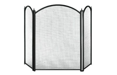 Dynasty 3 panel fire screen Black from Capital Fireplaces