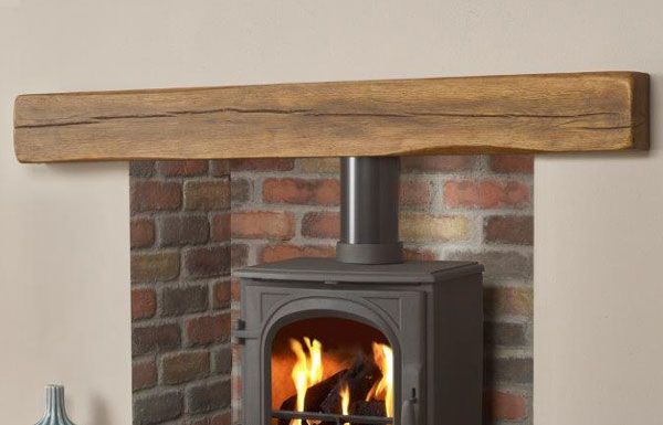 The Geocast Oak Dark beam from Capital Fireplaces