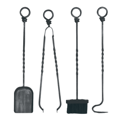 Ring Top Wrought Iron Tool Set from Stovax
