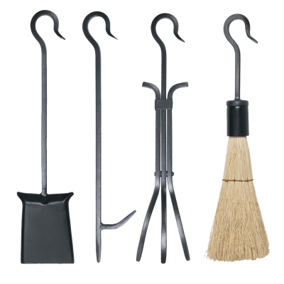 4Pc Loop Handle Set with Rustic Brush from Stovax