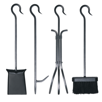 4Pc Loop Handle Set with Standard Brush from Stovax
