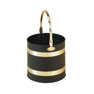 Black & Brass Coal Pail from Stovax