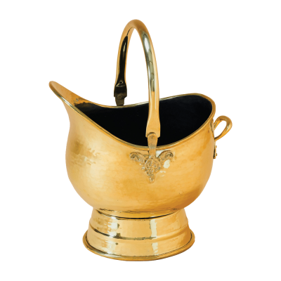 The Napoleon heavy duty Brass coal scuttle from Stovax
