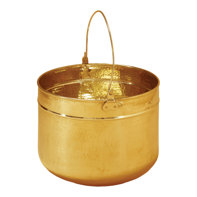 The Brass coal pail from Stovax comes in 2 sizes, small & large.