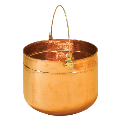 The copper coal pail from Stovax , comes in 2 sizes, small & large.