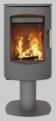Heta Scanline 7D Pedestal 4.5Kw Wood Burner