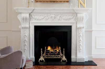 Great Room in Imperial White Marble