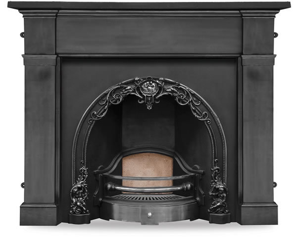 Cherub Cast Iron Fireplace Insert