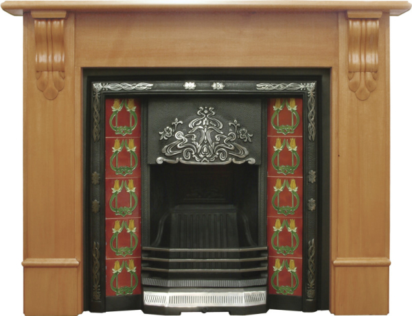 Daisy Cast Iron Fireplace Insert