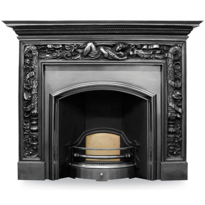 London Plate (Wide) Cast Iron Fireplace Insert