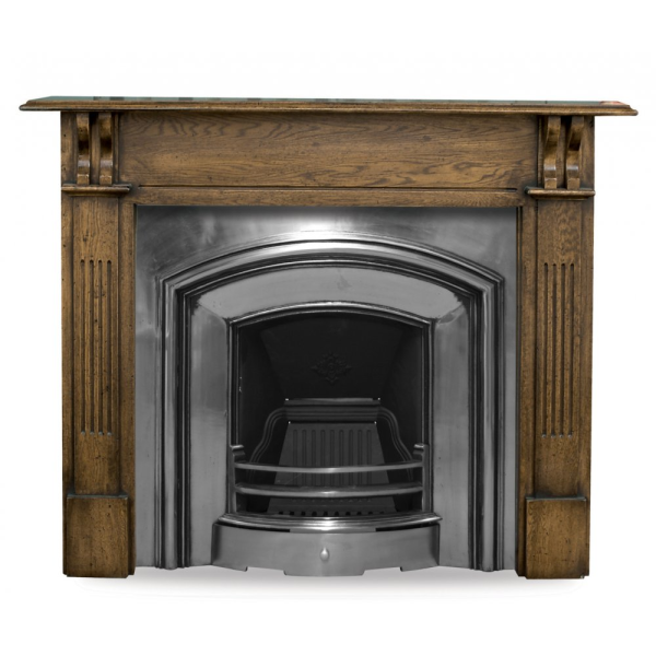 London Plate Cast Iron Fireplace Insert