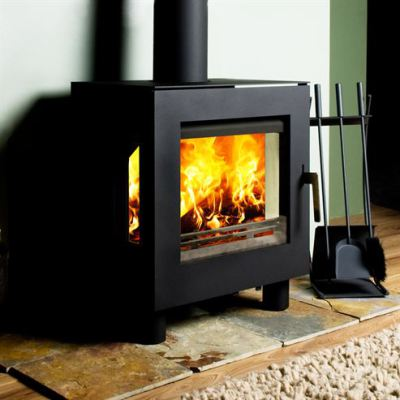 Uniq 23 100mm Legs Side Glass 6.1Kw Wood Burner