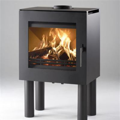 Uniq 23 300mm Legs Side Glass 6.1Kw Wood Burner