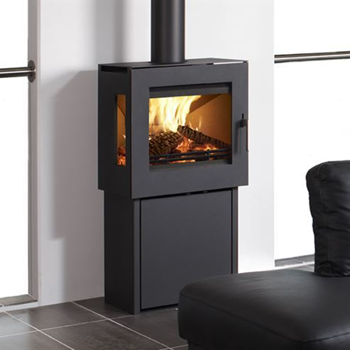 Westfire Uniq 23 Pedestal 2 Side Glass 6.1Kw Wood Burner