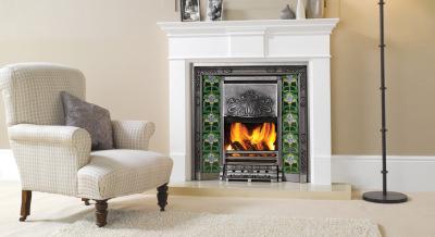 Art Nouveau Tiled Convector Fireplaces