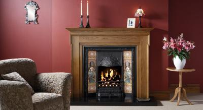 Art Nouveau Tiled Fireplace Fronts