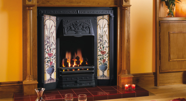 Poppy & Wheatsheaf Tiled Fireplace Fronts