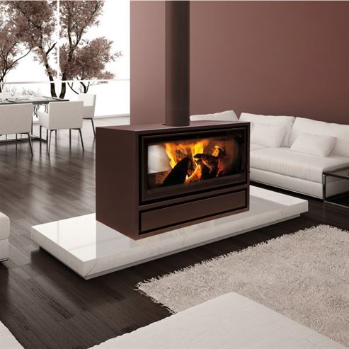 Jide Decor Plus 16/9 DF Housing Free Space 8-11Kw Wood Burner