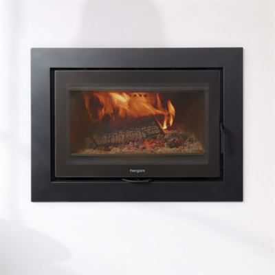 Sere 80 Inset with 90mm 3 Sided Frame 10Kw Wood Burner