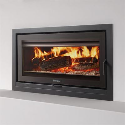 Sere 100 Inset with 90mm 3 Sided Frame 12Kw Wood Burner