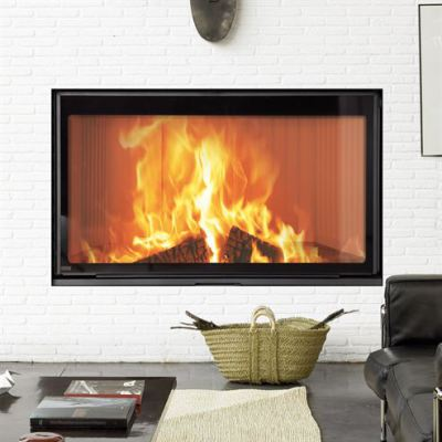 Stilkamin L Inset with 920 x 520mm Glass Panel  21Kw Wood Burner