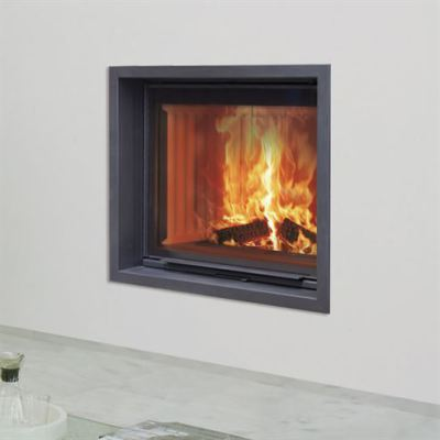 Stilkamin S-600 Inset with 720 x 600mm Glass Panel   17.5Kw Wood Burner